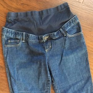 Old Navy Maternity Full Panel Jeans Sz S Stetch